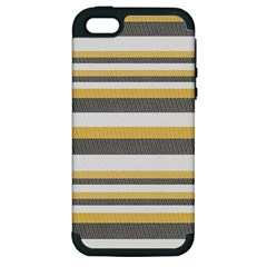 Textile Design Knit Tan White Apple Iphone 5 Hardshell Case (pc+silicone)