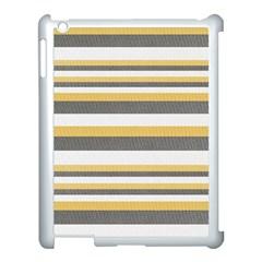 Textile Design Knit Tan White Apple iPad 3/4 Case (White)