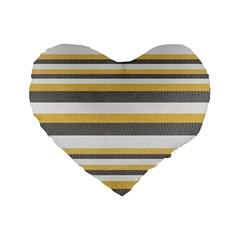 Textile Design Knit Tan White Standard 16  Premium Heart Shape Cushions