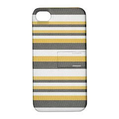 Textile Design Knit Tan White Apple Iphone 4/4s Hardshell Case With Stand