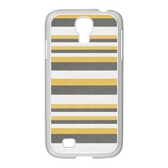 Textile Design Knit Tan White Samsung Galaxy S4 I9500/ I9505 Case (white)