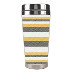 Textile Design Knit Tan White Stainless Steel Travel Tumblers