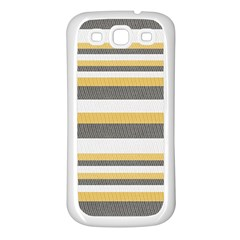 Textile Design Knit Tan White Samsung Galaxy S3 Back Case (white)