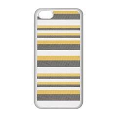 Textile Design Knit Tan White Apple iPhone 5C Seamless Case (White)