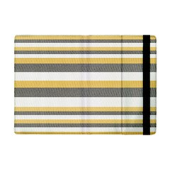 Textile Design Knit Tan White Ipad Mini 2 Flip Cases