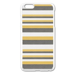 Textile Design Knit Tan White Apple Iphone 6 Plus/6s Plus Enamel White Case