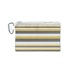 Textile Design Knit Tan White Canvas Cosmetic Bag (s)