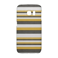 Textile Design Knit Tan White Galaxy S6 Edge