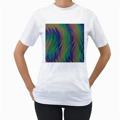Texture Abstract Background Women s T-Shirt (White) (Two Sided)