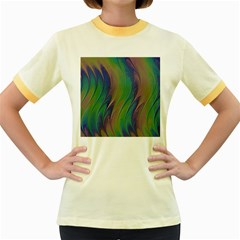 Texture Abstract Background Women s Fitted Ringer T Shirts