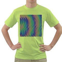 Texture Abstract Background Green T-Shirt
