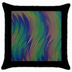 Texture Abstract Background Throw Pillow Case (Black)