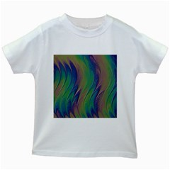 Texture Abstract Background Kids White T Shirts