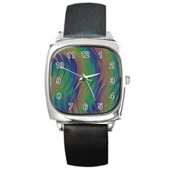 Texture Abstract Background Square Metal Watch