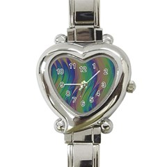 Texture Abstract Background Heart Italian Charm Watch