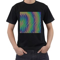 Texture Abstract Background Men s T Shirt (black) (two Sided)