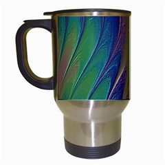 Texture Abstract Background Travel Mugs (White)
