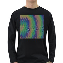 Texture Abstract Background Long Sleeve Dark T-Shirts