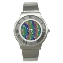 Texture Abstract Background Stainless Steel Watch