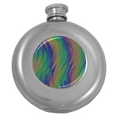 Texture Abstract Background Round Hip Flask (5 Oz)