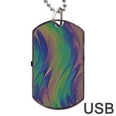 Texture Abstract Background Dog Tag USB Flash (Two Sides)
