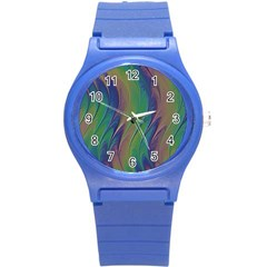 Texture Abstract Background Round Plastic Sport Watch (s)