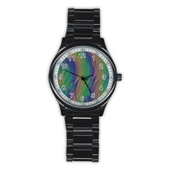 Texture Abstract Background Stainless Steel Round Watch