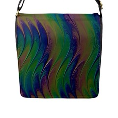 Texture Abstract Background Flap Messenger Bag (L)