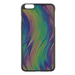 Texture Abstract Background Apple iPhone 6 Plus/6S Plus Black Enamel Case