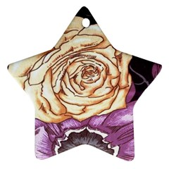 Texture Flower Pattern Fabric Design Ornament (Star)