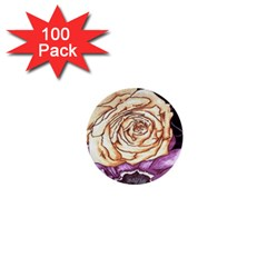 Texture Flower Pattern Fabric Design 1  Mini Buttons (100 Pack)