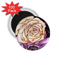Texture Flower Pattern Fabric Design 2.25  Magnets (100 pack)
