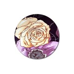 Texture Flower Pattern Fabric Design Magnet 3  (Round)