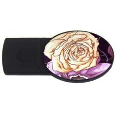 Texture Flower Pattern Fabric Design Usb Flash Drive Oval (4 Gb)