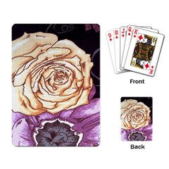 Texture Flower Pattern Fabric Design Playing Card
