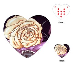 Texture Flower Pattern Fabric Design Playing Cards (heart)