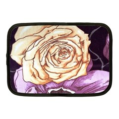 Texture Flower Pattern Fabric Design Netbook Case (Medium)
