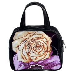 Texture Flower Pattern Fabric Design Classic Handbags (2 Sides)