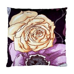 Texture Flower Pattern Fabric Design Standard Cushion Case (Two Sides)