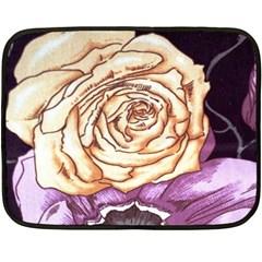 Texture Flower Pattern Fabric Design Fleece Blanket (mini)