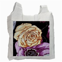 Texture Flower Pattern Fabric Design Recycle Bag (Two Side)