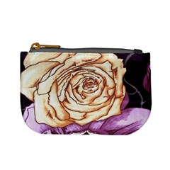 Texture Flower Pattern Fabric Design Mini Coin Purses