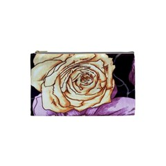 Texture Flower Pattern Fabric Design Cosmetic Bag (Small)