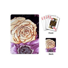 Texture Flower Pattern Fabric Design Playing Cards (mini)