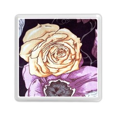 Texture Flower Pattern Fabric Design Memory Card Reader (Square)