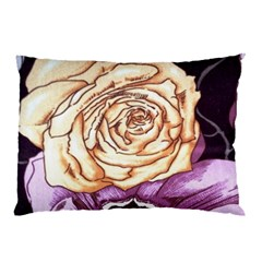 Texture Flower Pattern Fabric Design Pillow Case (Two Sides)