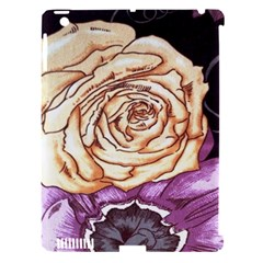 Texture Flower Pattern Fabric Design Apple Ipad 3/4 Hardshell Case (compatible With Smart Cover)