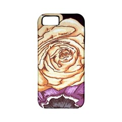 Texture Flower Pattern Fabric Design Apple Iphone 5 Classic Hardshell Case (pc+silicone)