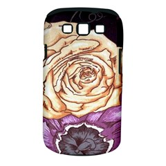 Texture Flower Pattern Fabric Design Samsung Galaxy S Iii Classic Hardshell Case (pc+silicone)