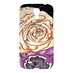 Texture Flower Pattern Fabric Design Samsung Galaxy S4 I9500/i9505 Hardshell Case